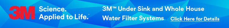 3M under sink and whole house water filter systems